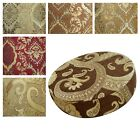 """2""""Thick-Round Box Shape Cover *Damask Chenille Chair Seat Cushion Case*Wk4"""