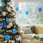 7 Color Large Snowflake Hanging Ornaments New Year Christmas Party Decoratiom