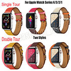 Genuine Leather Tour Strap Herme Wrist Band Bracelet For IWatch Series 4 3 3 image