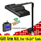 WiFi Dimmable LED AQUARIUM LIGHT Full Spectrum Reef Coral SPS LPS, Gift Arm Kit