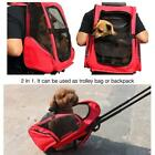 Pet Carrier Dog Cat Rolling Back Pack Travel Airline Wheel Luggage Bag Pouch