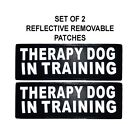 Doggie Stylz Set of 2 Reflective THERAPY DOG IN TRAINING Removable Dog Patches