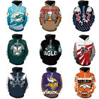 NFL Fans Fashion Men's Soft Hoodies Sweatshirt Jackets Support suit AFC NFC
