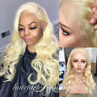 Pre Plucked Lace Front Wig Blonde Human Hair Remy Brazilian Straight Body Wave