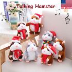 US Speak Sound Record Talking Hamster Mouse Plush Toy Child Kids CHRISTMAS GIFTS