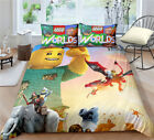 Single Double Twin Full Queen King Bed Pillowcase Quilt Cover rAUl2 LEGOWorlds
