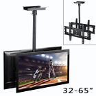 "Dual Screen Telescoping Pole TV Ceiling Mount for 32-65"" TV LED LCD Hold 220lbs"