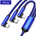 3 in 1 USB Cable Micro USB, Lightning, Type C for iPhone, Samsung, Huawei 1.2M