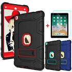 For iPad 9.7 inch 2018 6th Generation Kickstand Case Cover With Screen Protector