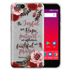 """Bible Verses Silver Glitter Clear TPU Cover Case For ZTE Tempo X N9137 / Z839 5"""""""