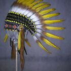 Short Native American Indian Headdress Costume War Bonnet