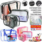 Set of 3Pcs Cosmetic Makeup Toiletry Clear PVC Travel Wash Bag Holder Pouch Kit