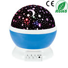 LED Rotating Projector Starry Night Lamp Star Sky Romantic Projection Light