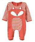 Jojo Maman Bebe BOYS GIRLS RED BLUE WHITE BABY GROW SLEEPSUIT Bodysuit 0-18m