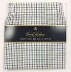 Brooks Brothers Traditional Fit Boxer Shorts Underwear White Green Check Boxers