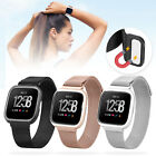 Replacement Stainless Steel Loop Strap Wrist Band + Frame for Fitbit Versa Watch