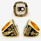 1975 PHILADELPHIA FLYERS Stanley Cup Championship Ring 18k HEAVY GOLD PLATED USA