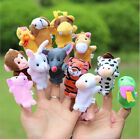 Family Finger Puppets Cloth Doll Baby Educational Hand Cartoon Animal Toy Sets