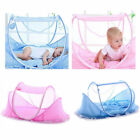 Baby Newborn Infant Kids Folding Crib Canopy Mosquito Net Bed Cot Tent Netting image