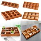 Wooden Box Container for Succulent Plant Pot Balcony Garden Decktop Jewelry Case