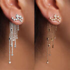 Kyпить Shooting Star Rhinestone Long Tassels Drop Hook Dangle Earrings Gold Silver New на еВаy.соm