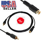 1RCA Male to 1RCA Female M/F Audio Video Adaptor Connector Extension Cable USA