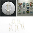 5x Plate Wire Hanging White Hanger Flexible With Spring Wall Display&Art XS
