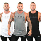 Mens Bodybuilding Stringer Tank Top Y Back Gym Workout Sports Vest Shirt Clothes