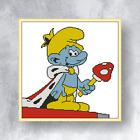 SMURF- Counted cross stitch kit (with DMC threads) (appropriate for beginners)