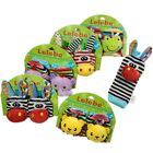 Cute Animal Infant Baby Kids Hand Wrist Bell Foot Sock Rattles Soft Toy.