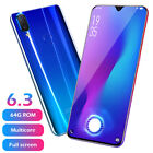"4+ 64GB Android 8.1 Unlocked 6.3"" Cell Phone Quad Core Dual SIM 3G/4G Smartphone"