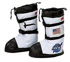 "NASA Astronaut Boots In White USA Costume Space Shoe Covers S=7"" M=9"" L=11"" Gift"