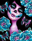 Memento by Carissa Rose Day of the Dead Portrait w/ Butterflies Canvas Art Print