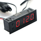 3in1 Digital Led Uhr Clock Temperatur Anzeige Thermometer Voltmeter Für 12v Auto