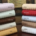 Super Deep Pocket 1 PC Fitted Sheet 100%Egyptian Cotton Striped Color King Size image