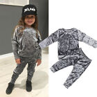 Toddler Kids Baby Girl Infant Clothes T-shirt Top Pants Outfit Sets Tracksuit