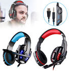 3.5mm Gaming Headset MIC LED Headphones Surround for PC Laptop PS4 Xbox One