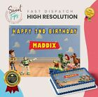 TOY STORY RECTANGLE EDIBLE CAKE TOPPER DECORATION PERSONALISED