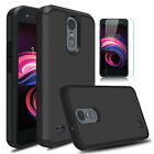 For LG Aristo 3 / 3 Plus / Tribute Empire Case Cover With Glass Screen Protector