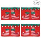 4pcs Christmas Placemat Xams Party Kitchen Dining Table Place Mats Pads Coasters
