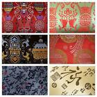 Faux Silk Brocade (Chinese Words) Jacquard Damask Kimono Fabric Material BL17