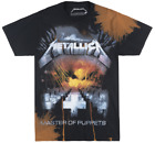 METALLICA MASTER OF PUPPETS T-SHIRT MENS BLEACHED MUSIC ALBUM METAL TEE BRAVADO image