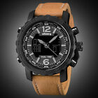 INFANTRY MENS DIGITAL QUARTZ WRIST WATCH CHRONOGRAPH DATE SPORT MILITARY LEATHER image