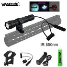 IR Infrared 5W 850nm LED Flashlight Torch Zoomable for Night Vision Scope 18650
