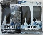 RBX Sport Performance Long Pant Base Layer S M L & XL Black / Gray Thermal Pants