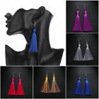 14 Colors Ethnic Long Tassel Dangle Drop Earrings Boho Jewelry Silk Thread