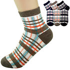 Women's Ankle Socks Low Cut Vintage Check Color Pattern Casual Cotton Lot Sock