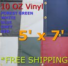 5' x 7' 10 Oz. Vinyl Waterproof Tarp - Truck Trailer Equipment Cover