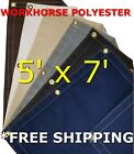 5' x 7' Workhorse Polyester Waterproof Breathable Canvas Tarp