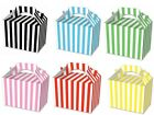 24 Striped Food Boxes Picnic Lunch Gift Box Wedding Favour Birthday Party